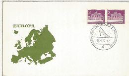 ALEMANIA 1967 DÜSSELDORF MUESTRA EUROPA ZAPATOS SHOES - Textiles