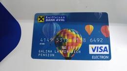 Ukrania-credict Card-(551)-(6492-334)-used Card+1 Card Prepiad Free - Geldkarten (Ablauf Min. 10 Jahre)
