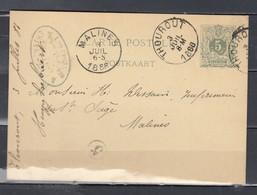 Postkaart Van Thourout Naar Malines - Postcards [1871-09]