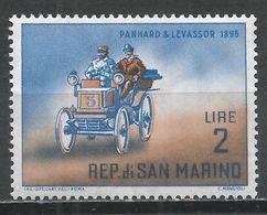 San Marino 1962. Scott #495 (MNH) Automobile' Panhard-Levassor * - Saint-Marin