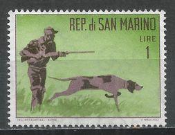 San Marino 1962. Scott #529 (M) Hunter With Dog * - Saint-Marin