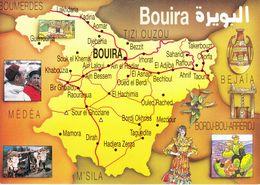 Algeria-Algérie- Carte De La Willaya DeBouira-Editions Bakhti - Unclassified