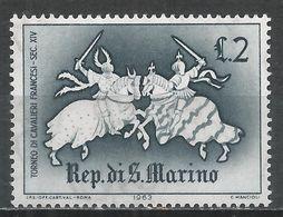San Marino 1963. Scott #555 (M) Medieval, French Knights * - Saint-Marin