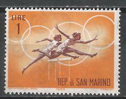 San Marino 1963. Scott #572 (M) Women's Hurdles, Olympic Games * - Saint-Marin