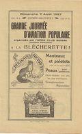 Journée D'aviation Lausanne - 1927 - Programmes