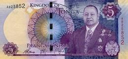 TONGA 5 PA'ANGA ND (2015) P-45 NEUF  [TO220a] - Tonga