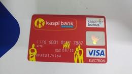 Kazakhstan-credict Card-(555)-(7887-520)-used Card+1 Card Prepiad Free - Geldkarten (Ablauf Min. 10 Jahre)