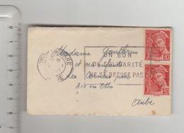 """LSC Mignonette 1943 - Flamme """"un Bon De Solidarité Ne Se Refuse Pas"""" - Marcofilia (sobres)"""