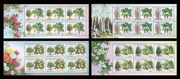 North Korea 2009 Mih. 5421/24 Flora. Plants Of Central Botanical Garden (4 M/S) MNH ** - Korea (Nord-)