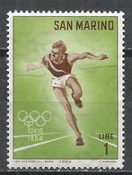 San Marino 1964. Scott #582 (MNH) Olympic Games, Tokyo, Runner * - Saint-Marin