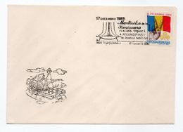 Enveloppe POSTA ROMANA ROUMANIE Oblitération TIMISOARA 17/01/1990 - Poststempel (Marcophilie)