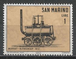 San Marino 1964. Scott #594 (M) Murray-Blenkinsop Locomotive * - Saint-Marin