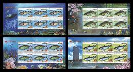 North Korea 2009 Mih. 5475/78 Fauna. Fishes (4 M/S) MNH ** - Korea (Nord-)