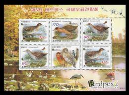 North Korea 2009 Mih. 5483/85 Fauna. Birds (M/S) MNH ** - Korea, North