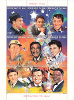 1996 Mali Entertainers Music Sinatra Presley Cole Miniature Sheet Of 9 MNH - Mali (1959-...)