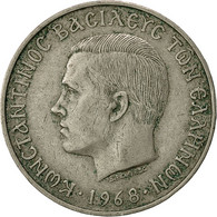 Grèce, Constantine II, 10 Drachmai, 1968, TB, Copper-nickel, KM:96 - Grèce