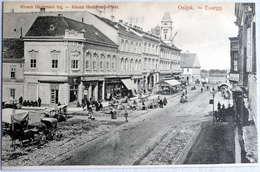 Eszék (Osijek,Essegg) : Khuen Hedervari Trg., Platz , Market    Ca.1910 - Croatia