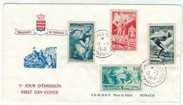 Monaco // 1948 // Lettre 1er Jour Jeux Olympiques De Londre 1948 - Monaco