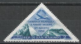 San Marino 1952. Scott #C83 (M) Seacoast * - Poste Aérienne
