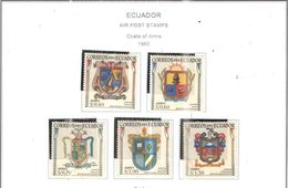 Ecuador PA 1960 Arms Scott.C360/364+ See Scan On Scott.Page - Ecuador