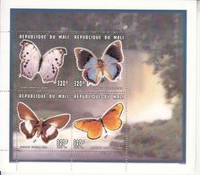 1996 Mali Butterflies Papillions Miniature Sheet Of 4 MNH - Mali (1959-...)