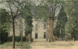 VILLARS FONTAINES ENTREE DU CHATEAU CARTE COLORISEE ET TOILEE - France