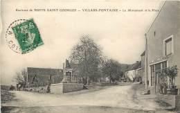 VILLARS FONTAINE LE MONUMENT ET LA PLACE CAFE DE LA POSTE ET DU TELEPHONE - France