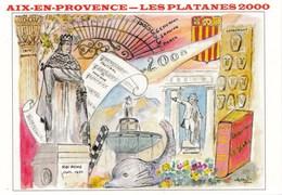 8EME SALON DE LA CARTE POSTALE  16/07/2000 AIX EN PCE N° 4(dil352) - Expositions