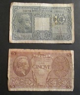 Italia Biglietto Di Stato 1944 Luogotenenza 10 Lire Giove E 5 Lire Atena Elmata - [ 5] Schatzamt