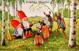 GNOMI-GNOMES-LUTINS-NAINS-ZWERGE - FESTA DI PENTECOSTE - PFINGSTFEST - N 262 - Pentecôte