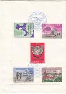 Lihou 1967 Torrey Canyon Set Of 5, Overprints On FDC - Guernsey