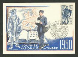 "AIX EN PROVENCE / Carte "" Journée Du Timbre 1950 "" / Facteur Rural / Dessin Raoul Serres - France"