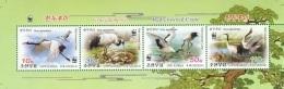North Korea 2014 Mih. 6131/34 Fauna. WWF. Birds. Red-Crowned Crane (booklet Sheet) MNH ** - Korea, North