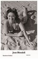 JOAN BLONDELL - Film Star Pin Up PHOTO POSTCARD - 365-232 Swiftsure Postcard - Unclassified