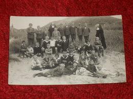 GROUPE D'ENFANTS EN COLONIE. CACHET EGMOND AAN ZEE. BERGEN. - Bergen Op Zoom