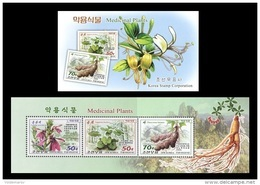 North Korea 2016 Mih. 6305/07 Flora. Medicinal Plants (booklet) MNH ** - Korea (Nord-)