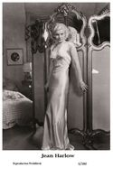 JEAN HARLOW - Film Star Pin Up PHOTO POSTCARD - 6-380 Swiftsure Postcard - Unclassified