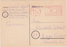 GERMANY 1945 (5.8.) MILIT.LIQUIDATION PC LÜBECK-SCHWARTAU (Milit.Hospital) BRT.ZONE - Germany