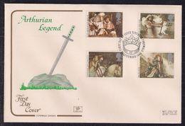 GB 1985 QE2 FDC Arthurian Legends Set  SHS Tintagel Cornwall Pmk  ( B1025 ) - 1981-1990 Decimal Issues