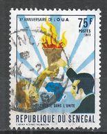 Senegal 1973. Scott #391 (U) Men Holding Torch Over Africa * - Sénégal (1960-...)