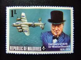 MALDIVES 1974 Aniversario Del Nacimiento De Sir Winston Churchill  Yvert 503 * MH - Maldives (1965-...)