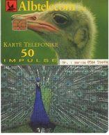 TARJETA TELEFONICA DE ALBANIA. FAUNA - 11.2001 (017) - Albania