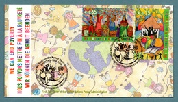 UNITED NATIONS (VIENNA) 2008 We Can End Poverty: First Day Cover CANCELLED - Wien - Internationales Zentrum