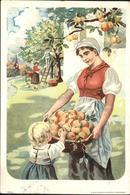 11362622 Landwirtschaft Apfelbaum Ernte Kuenstlerkarte Landwirtschaft - Profesiones