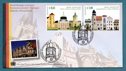 UNITED NATIONS (VIENNA) 2009 World Heritage Sites: Germany: First Day Cover CANCELLED - Wien - Internationales Zentrum