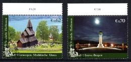 UNITED NATIONS (VIENNA) 2011 World Heritage Sites/Norway: Set Of 2 Stamps CANCELLED - Wien - Internationales Zentrum