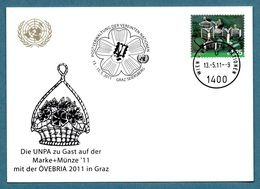 UNITED NATIONS (VIENNA) 2011 Definitive EUR1.25: ÖVEBRIA '11 Exhibition Card CANCELLED - Centre International De Vienne
