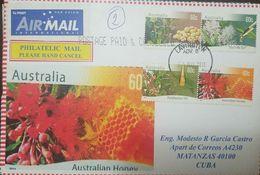 L) 2011 AUSTRALIA, EUCALYPTUS OIL, AUSTRALIAN HONEY, TEA TREE OIL, NATURE, AIR MAIL, CIRCULATED COVER FROM AUSTRALIA TO - 2010-... Elizabeth II