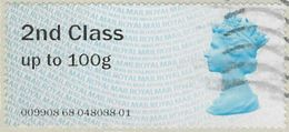 GB 2013 2nd Class Post And Go Used Code 009908 [32/118/ND] - Great Britain