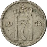 Norvège, Haakon VII, 10 Öre, 1954, TB+, Copper-nickel, KM:396 - Norvège